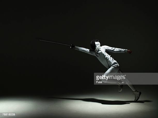 Fencer Practicing
