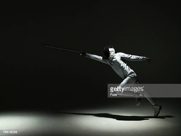 Fencer Practicing