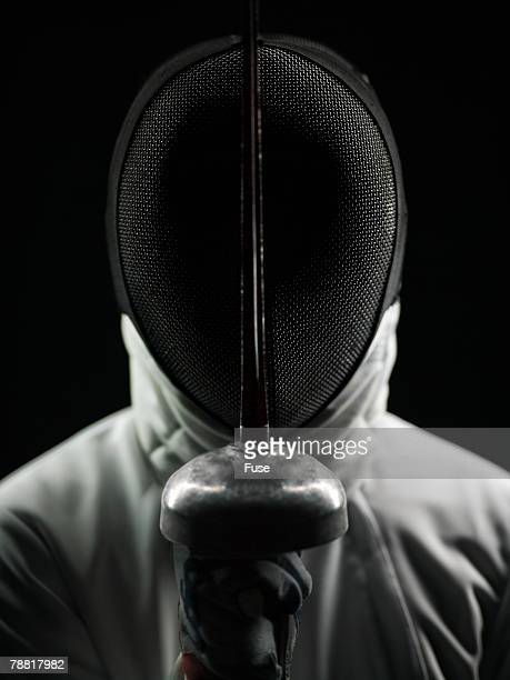 Fencer Wearing Protective Mask