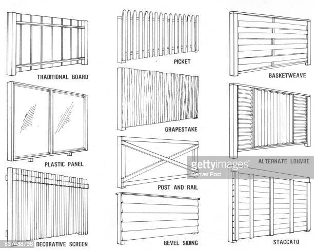 Fences have both a practical and decorative purpose Ten of the most popular fences ever designed can be built at great savings by following plans...