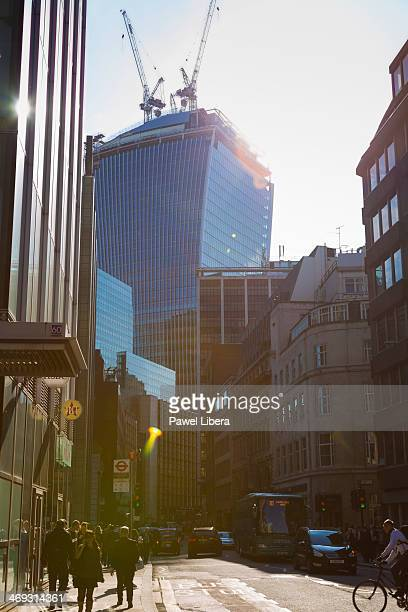Fenchurch Street Tower aka Walkie Talkie tower in the City of London