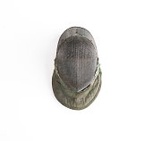fencing helmet isolated on white background