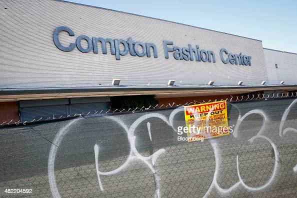 The closed down compton fashion center and indoor swap meet in compton