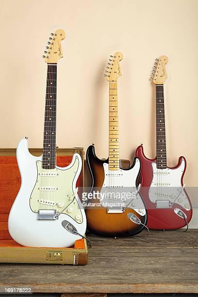 Fender American Vintage '59 Stratocaster Fender American Vintage '56 Stratocaster and a Fender American Vintage '65 Stratocaster taken on October 12...
