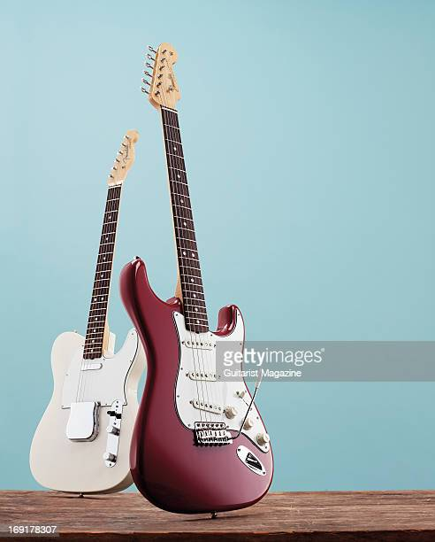 A Fender American Vintage '65 Stratocaster and a Fender American Vintage '64 Telecaster taken on October 23 2012