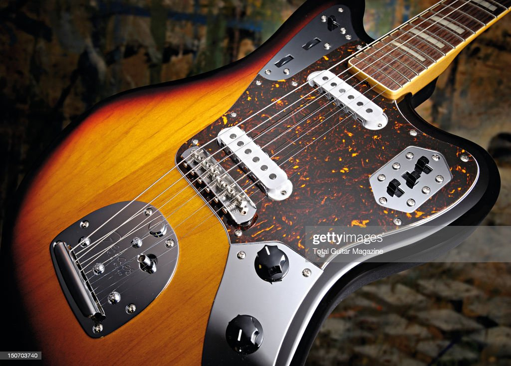 A Fender Jaguar 66 Block Inlay electric guitar with a three-colour sunburst finish, taken on November 23, 2009.