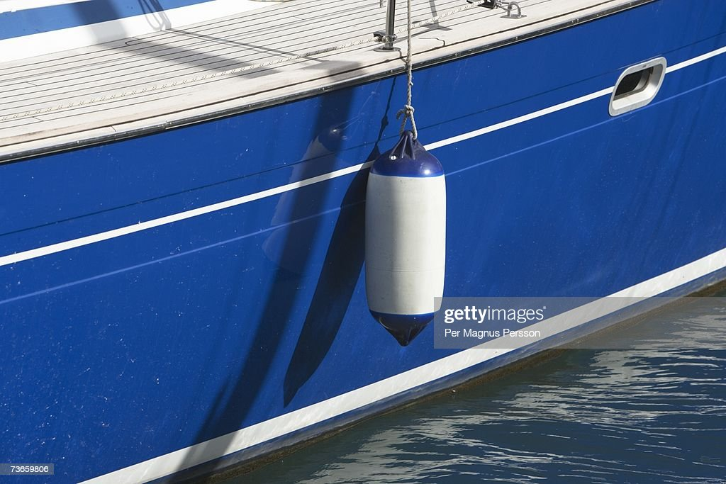 A fender on a sailing boat.