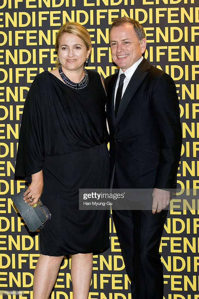 Fendi's Creative Director Silvia Venturini Fendi and Fendi's Chairman & CEO Michael Burke attends the Fendi Han River Fashion Show on June 2, 2011 in Seoul, South Korea.