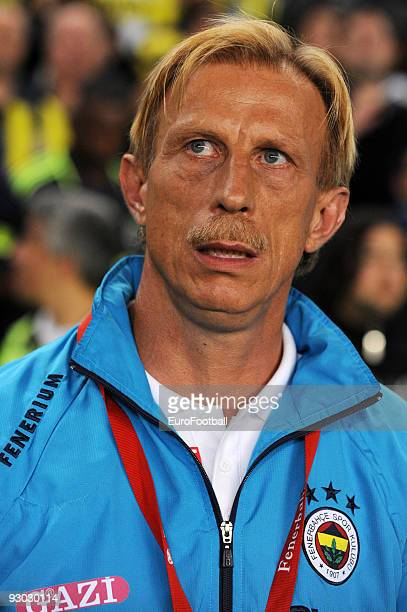 Fenerbahce Head Coach Christoph Daum during the Turkish Super League match between Fenerbahce and Galatasaray held on October 25 2009 at Sukru...