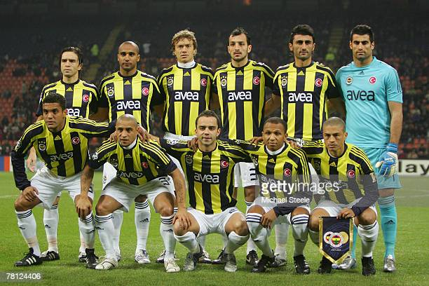 Fenerbahce teamgroup during the UEFA Champions League Group G match between Inter Milan and Fenerbahce at the San Siro stadium on November 27 2007 in...