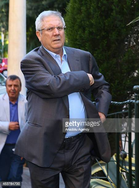 Fenerbahce's club manager Aziz Yildirim arrives to Rome ahead of the match between AS Roma and Fenerbahce friendly match in Rome Italy on August 18...