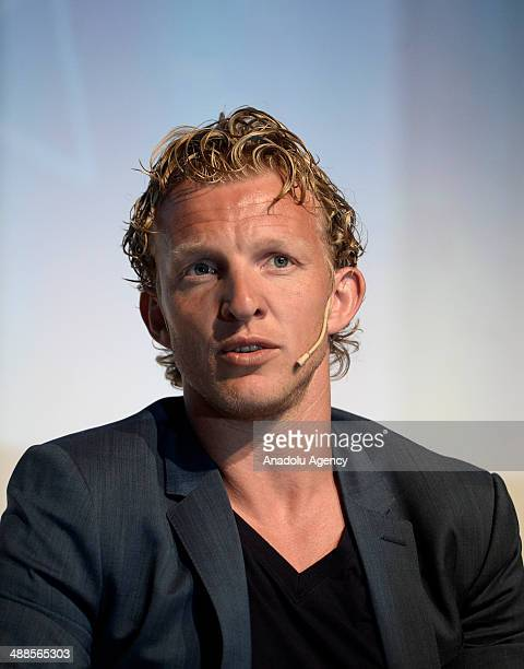 Fenerbahce's Dutch international forward Dirk Kuyt attends the summit on 'nutrition and healthy living' organized by the Sabri Ulker Food Research...