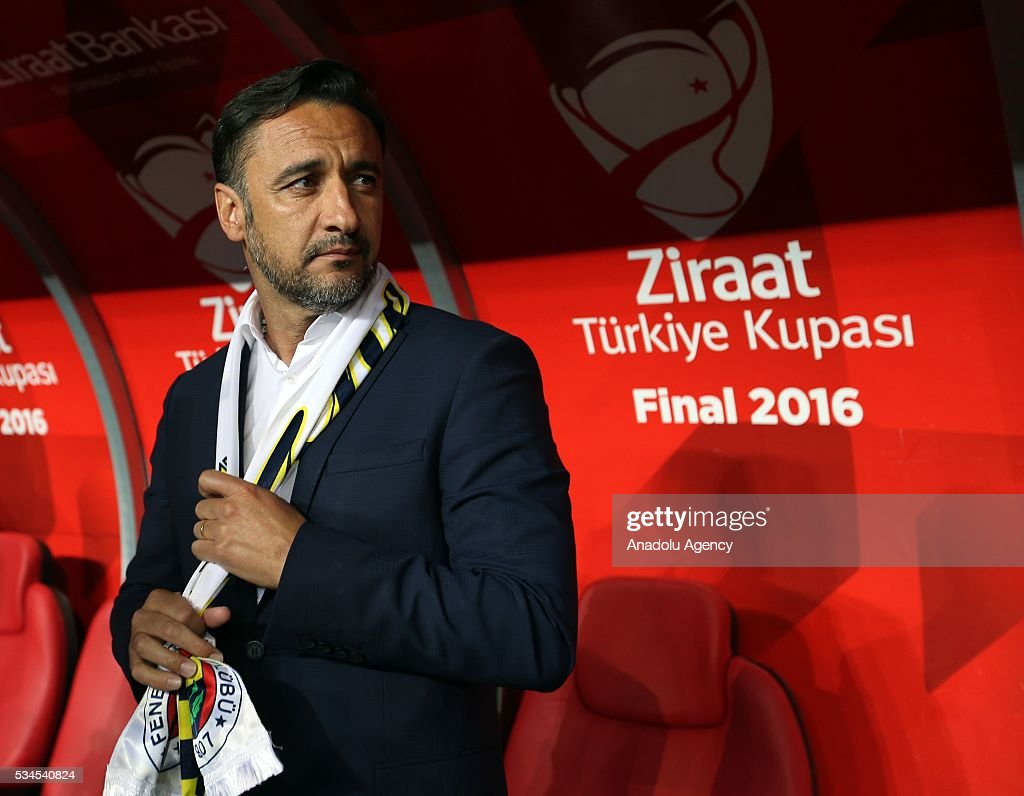 Fenerbahce's Head coach of Vitor Pereira is seen during the Ziraat Turkish Cup Final match between Galatasaray and Fenerbahce at Antalya Ataturk Stadium in Antalya, Turkey on May 26, 2016.