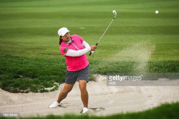 Feng Shanshan of China in action during day three of the 2013 Reignwood LPGA Classic on October 5 2013 in Beijing China