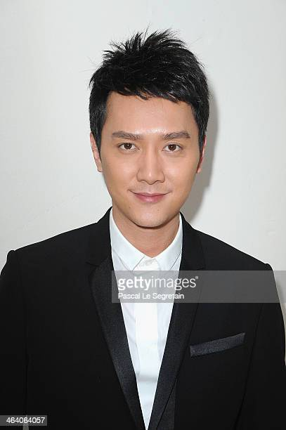 Feng Shao Feng attends the Christian Dior show as part of Paris Fashion Week Haute Couture Spring/Summer 2014 on January 20 2014 in Paris France