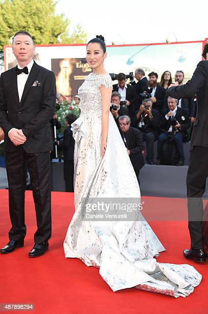 Feng Xiaogang and Xu Qing attends the closing ceremony and premiere of 'Lao Pao Er' during the 72nd Venice Film Festival on September 12 2015 in...