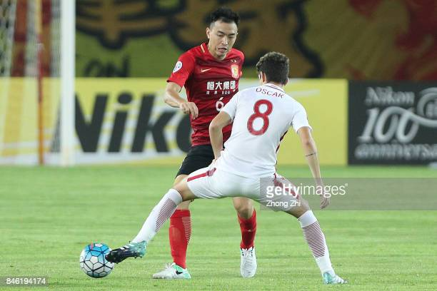 Feng Xiaoting of Guangzhou Evergrande in action during the AFC Champions League 2017 Quarterfinals 2nd leg between Shanghai SIPG and Guangzhou...