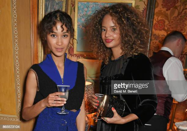 Fenn O'Meally and Malaika Firth attend The Fashion Awards 2017 nominees party in partnership with Swarovski at 5 Hertford Street on October 23 2017...