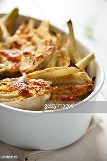 Fenchel mit Mozzarella überbackene