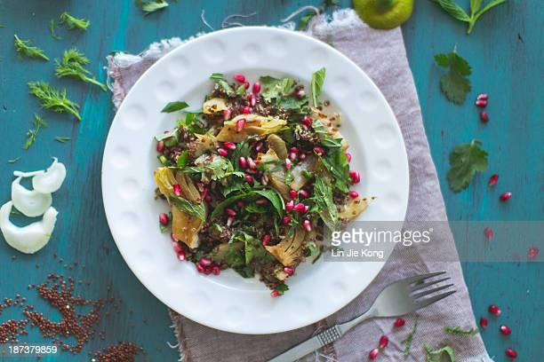Fennel, Quinoa and pomegranate salad