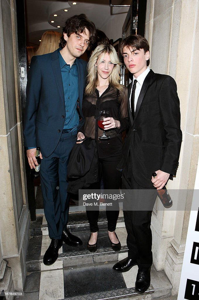 Fenton Bailey, Mairi-Luise Tabbakh, and Sascha Bailey attend a private view of 'Human Relations' featuring the photographs of Fenton Bailey and Mairi-Luise Tabbakh, curated by Sascha Bailey, at Imitate Modern on May 1, 2013 in London, England.