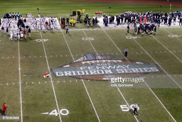 Fenway Gridiron Series logo during a game between the UCONN Huskies and the Boston College Eagles on November 18 at Fenway Park in Boston...