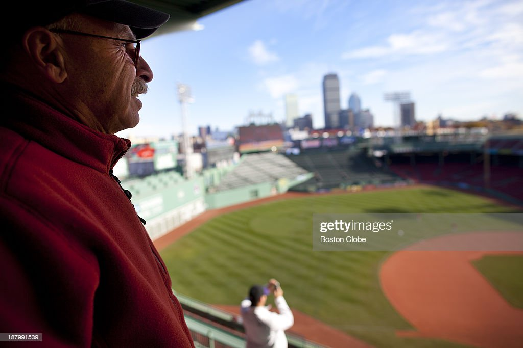 Fenway Park - Dr. Bob Brancale of Hingham was a lieutenant in the Navy from 1972-1974. He took advantage of free admission for a tour of Fenway Park in honor of US veterans. In honor of Veterans Day, the Red Sox offered veterans and active duty members of the military free tours of Fenway Park on, Monday, Nov. 11, 2013.