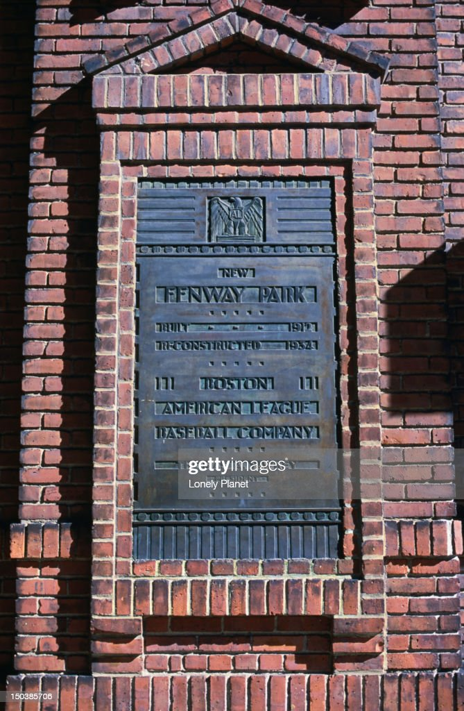 Fenway Park, home to the Boston Red Sox baseball team, was built in 1912 making it the nations oldest ( and most loved ) ballpark. : Stock Photo