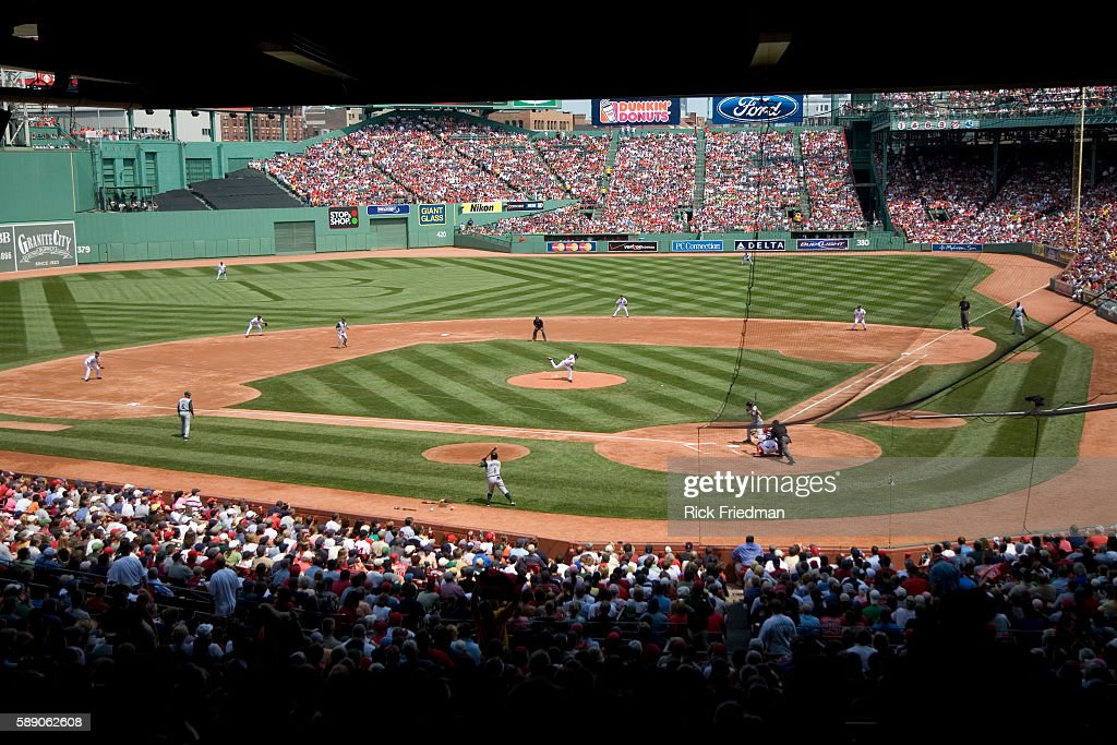 Fenway Park in Boston Massachusetts during the game between he Boston Red Sox and the Tampa Bay Devil Rays on Wednesday August 15 2007