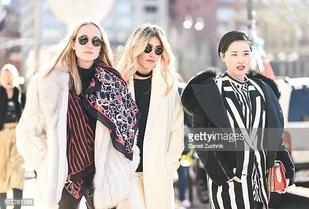 Fer Medina is seen outside the Calvin Klein show during New York Fashion Week Women's Fall/Winter 2016 on February 18 2016 in New York City
