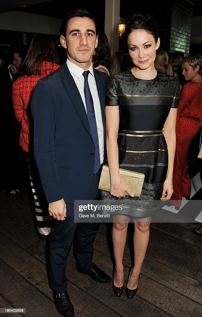 Ferdinand Kingsley (L) and Anna Skellern attend the InStyle Best Of British Talent party in association with Lancome and Avenue 32 at Shoreditch House on January 30, 2013 in London, England.