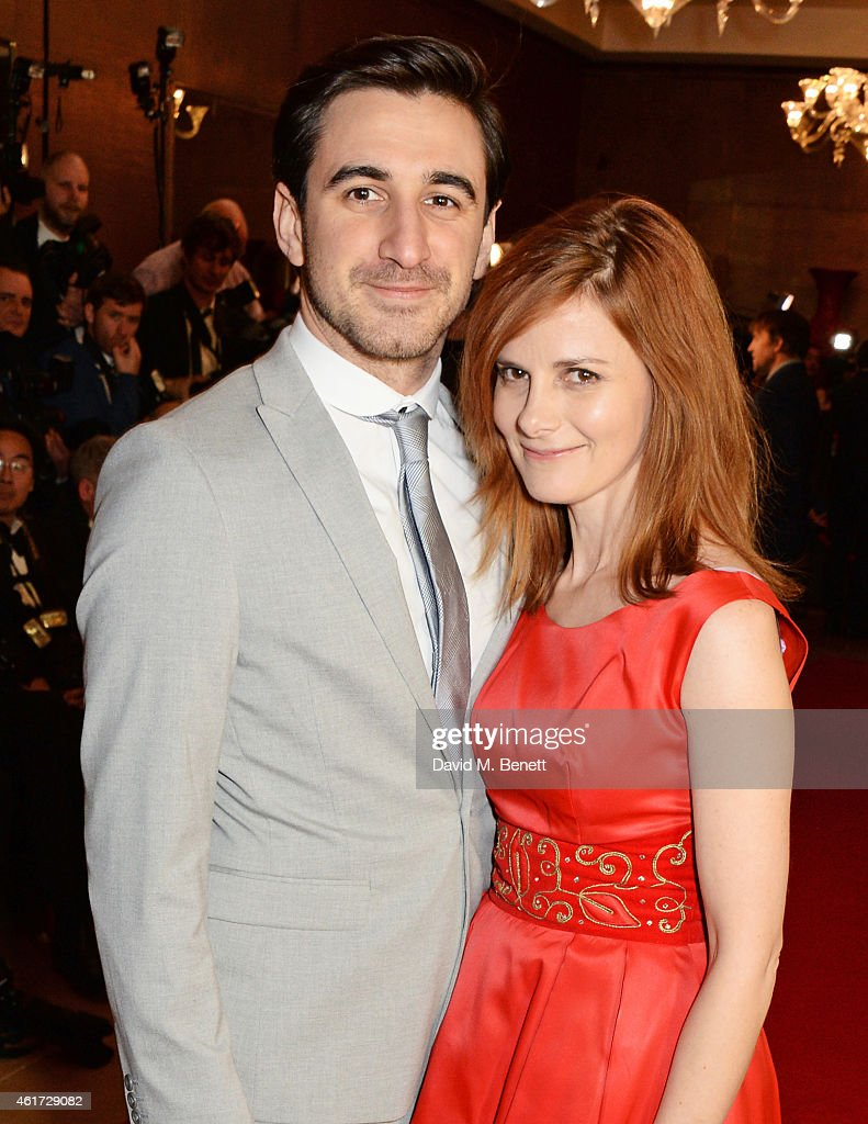 Ferdinand Kingsley and Louise Brealey attend The London Critics' Circle Film Awards at The Mayfair Hotel on January 18 2015 in London England