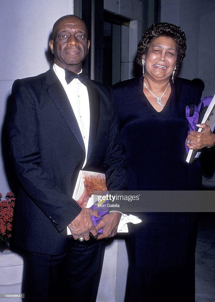 Ferdinand Lewis Alcindor, Sr. and Cora Alcindor (Kareem Abdul-Jabbar's parents) the Athletes and Entertainers for Kids Foundation's All-Star Tribute to Kareem Abdul Jabaar on April 24, 1989 at Century Plaza Hotel in Los Angeles, California.