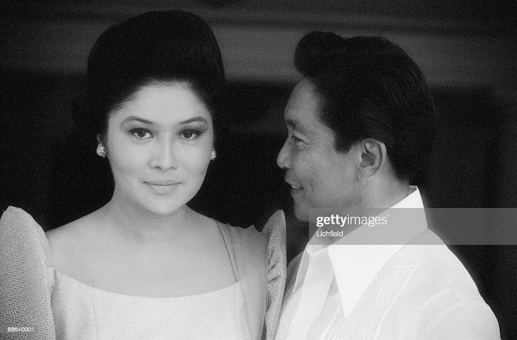 Ferdinand Marcos, President of the Philippines, and his wife Imelda photographed in the Philippines on 5th July 1974. (Photo by Lichfield/Getty Images).