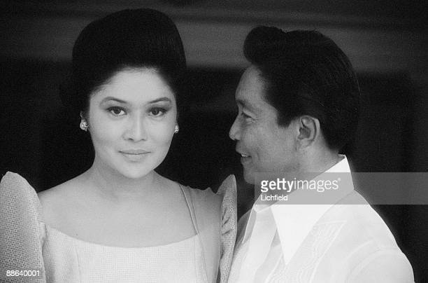 Ferdinand Marcos President of the Philippines and his wife Imelda photographed in the Philippines on 5th July 1974
