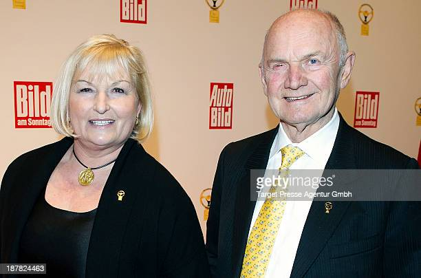 Ferdinand Piech and his wife Louise Piech attend the 'Goldenes Lenkrad' Award 2013 at Axel Springer Haus on November 12 2013 in Berlin Germany