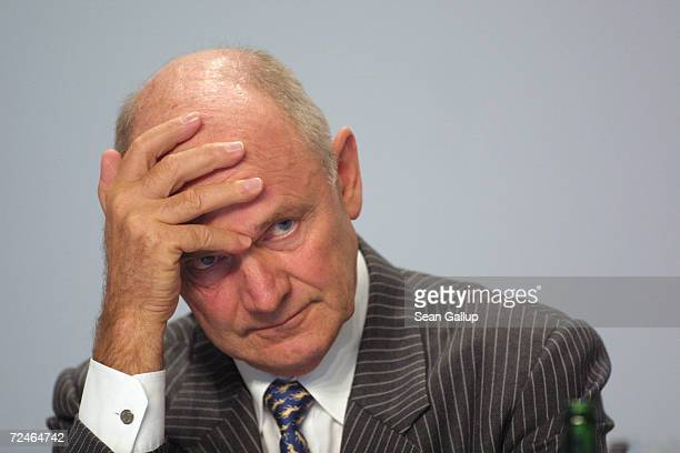 Ferdinand Piech Chairman of the Board of German carmaker Volkswagen AG attends the companys annual press conference March 12 in Wolfsburg Germany...