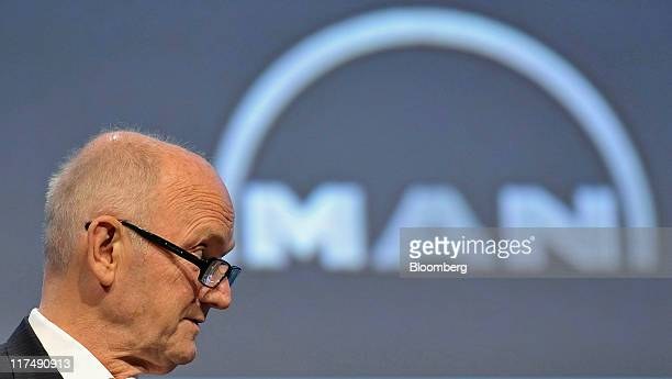 Ferdinand Piech chairman of the supervisory board of MAN SE speaks during the company's annual shareholders meeting in Munich Germany on Monday June...