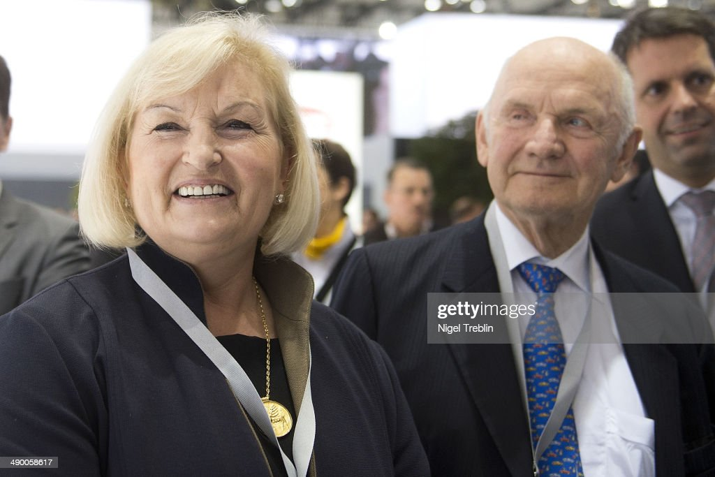 Ferdinand Piech, Chairman of the Supervisory Board of Volkwagen Group, and his wife Ursula stand together ahead of Volkswagen annual shareholder meeting on May 13, 2014 in Hanover, Germany. Volkswagen presents the newest company results at the annual shareholder meeting.