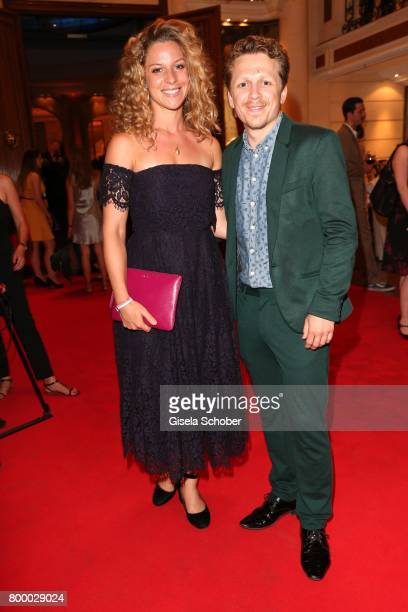 Ferdinand SchmidtModrow and his girlfriend Laura Cuenca Sarrano during the opening night party of the Munich Film Festival 2017 at Hotel Bayerischer...