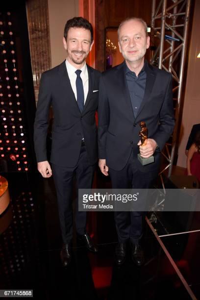 Ferdinand von Schirach and Oliver Berben during the ROMY award at Hofburg Vienna on April 22 2017 in Vienna Austria