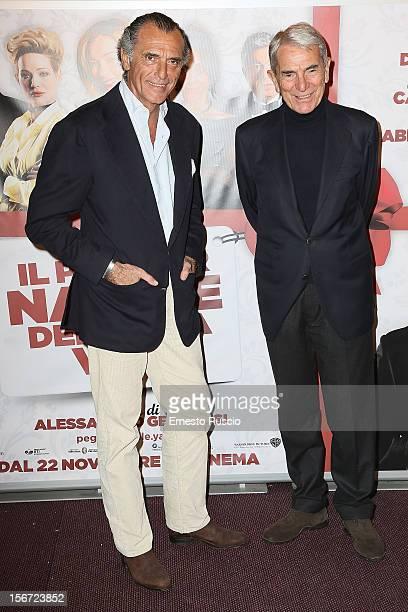 Ferdinando Brchetti Peretti and Carlo Rossella attend the 'Il Peggior Natale Della Mia Vita' premiere at The Space Moderno on November 19 2012 in...