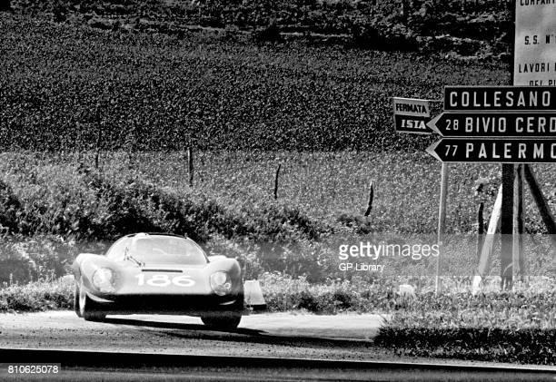Ferdinando Latteri driving a Ferrari Dino 206S at Targa Florio