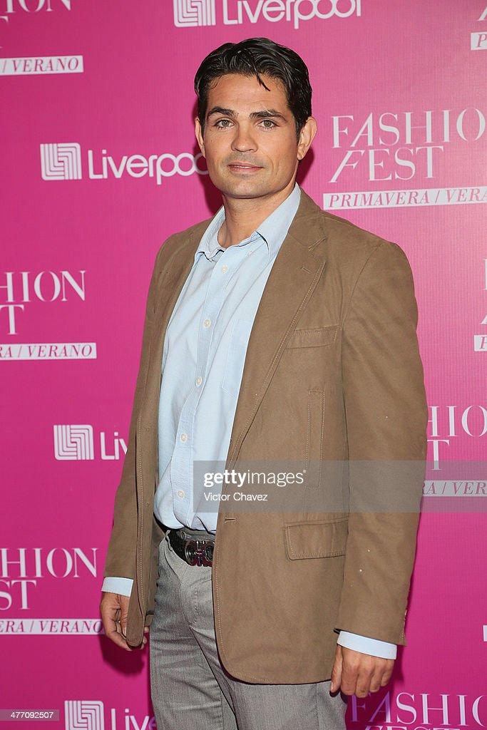Ferdinando Valencia attends the Liverpool Fashion Fest Spring/Summer 2014 at Hipodromo de las Americas on March 6, 2014 in Mexico City, Mexico.