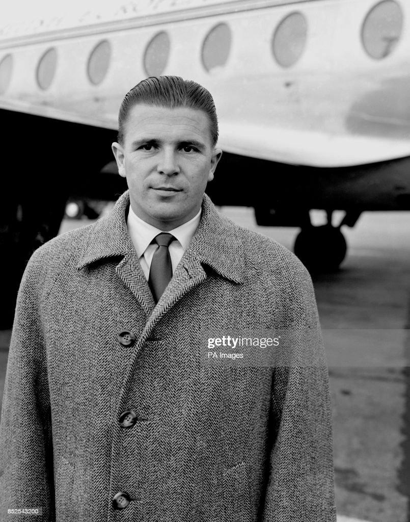 Soccer Ferenc Puskas London Airport