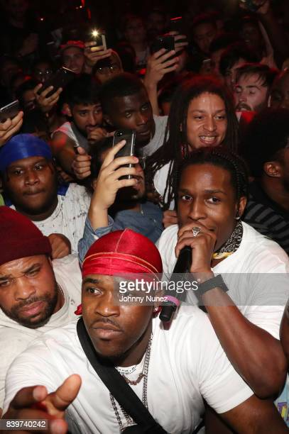 A$AP Ferg A$AP Rocky and A$AP Illz perform during the ASAP Mob Album Release Show at Highline Ballroom on August 24 2017 in New York City