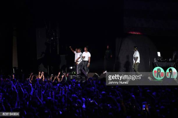 A$AP Ferg A$AP Rocky and Joey Bada$$ perform at Barclays Center on August 8 2017 in New York City
