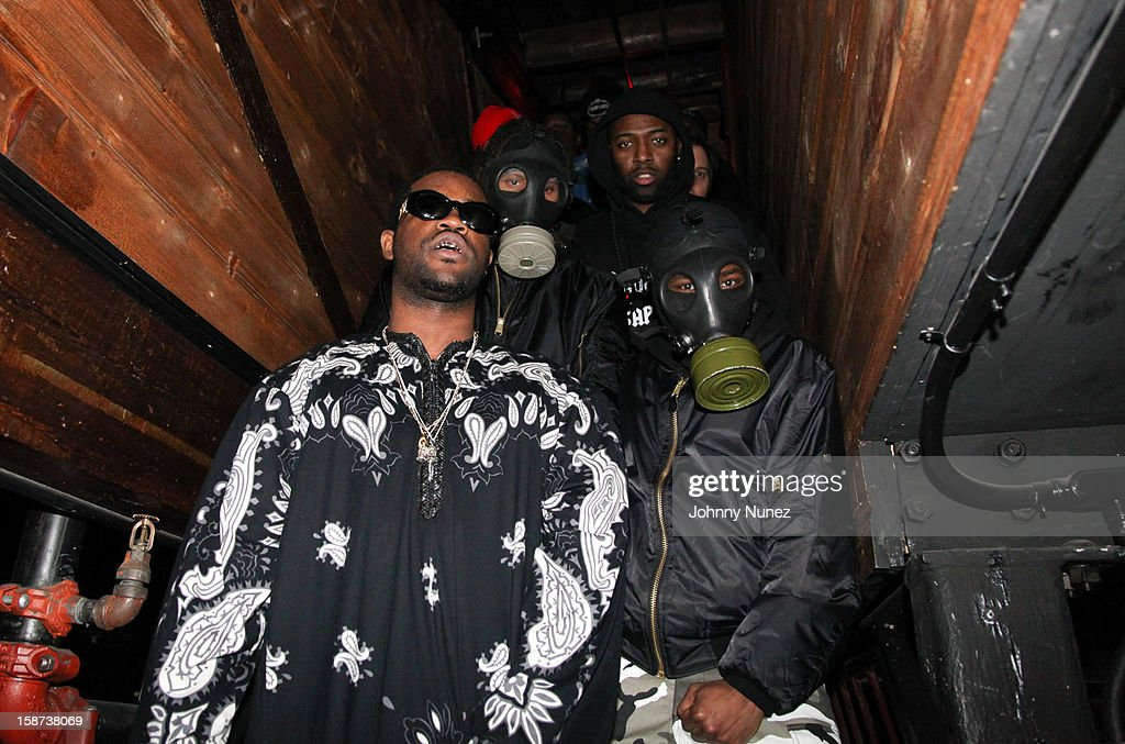 Ferg (L) and A$AP Mob attend the Brooklyn Bowl on December 26, 2012 in New York City.