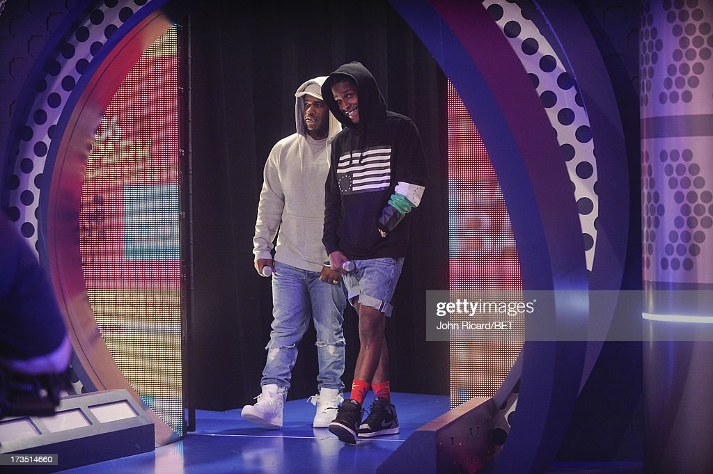Ferg and A$AP Rocky at BET's 106 & Park at BET Studios on July 15, 2013 in New York City.