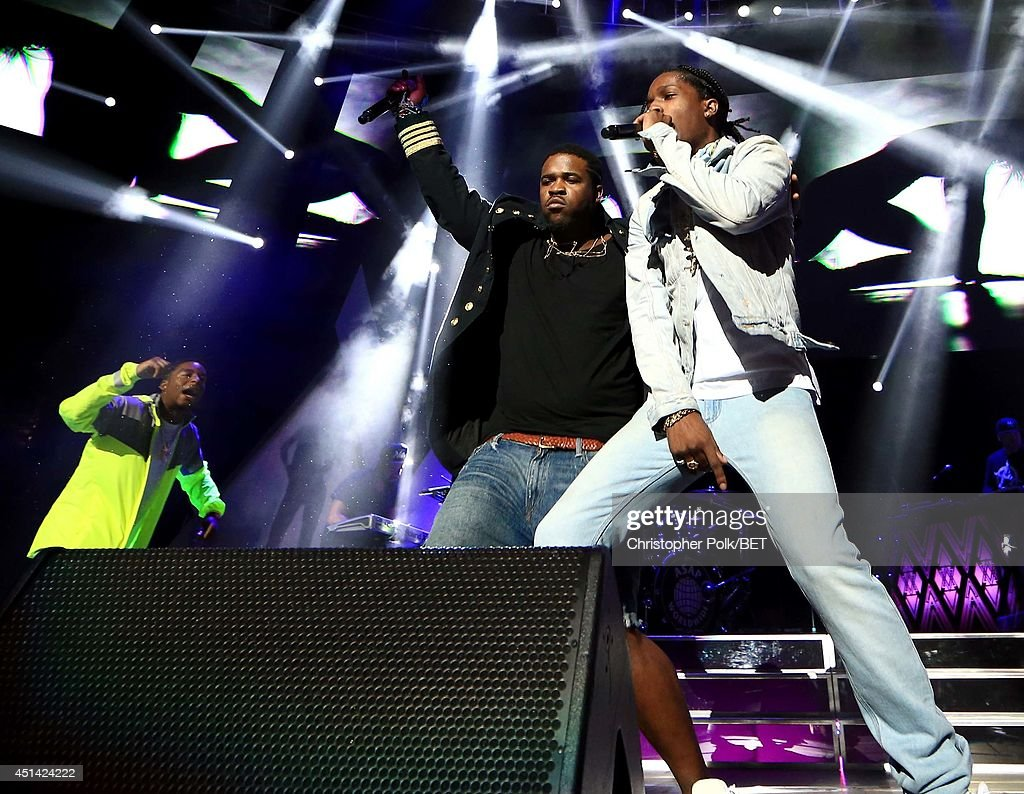 Ferg (L) and A$AP Rocky perform onstage at the OutKast, A$AP Rocky, Rick Ross, K. Michelle, August Alsina & Ty Dolla $ign Presented By Sprite during the 2014 BET Experience At L.A. LIVE on June 28, 2014 in Los Angeles, California.